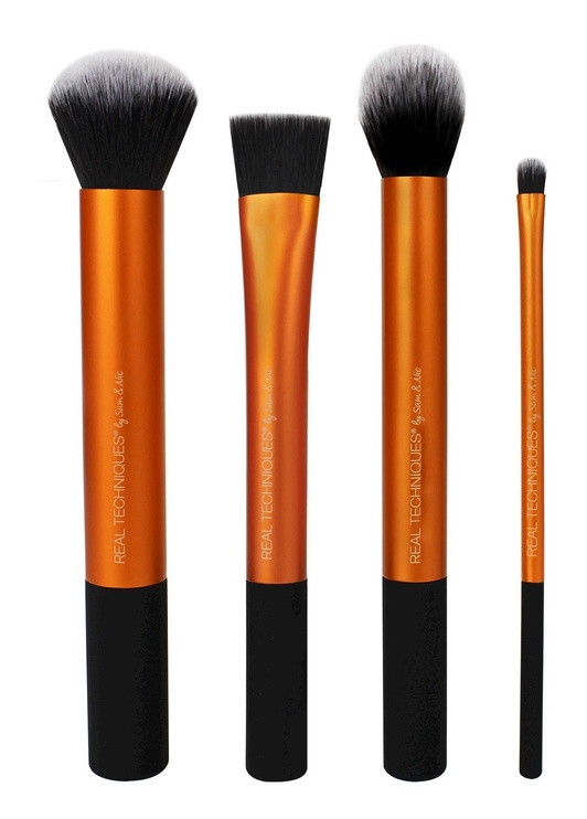 Real Techniques Contour Brush + Detailer Brush + Buffing Brush + Square Foundation Brush