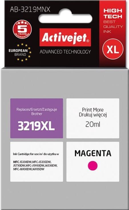 ActiveJet Cartridge AB-3219MNX For Brother 20ml Magenta