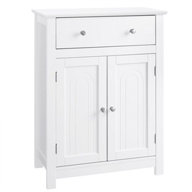 Songmics Bathroom Cabinet White 60x30x80cm