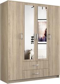 Top E Shop Romana Wardrobe With Mirror Sonoma Oak 160x205cm
