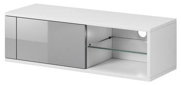 ТВ стол Vivaldi Meble Best, белый/серый, 1000x358x305 мм