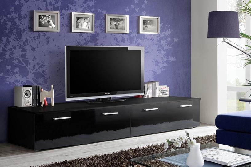 ТВ стол ASM Duo, черный, 2000x450x350 мм