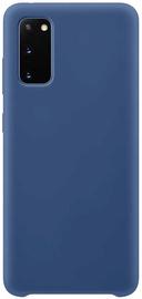 Hurtel Soft Flexible Rubber Back Case For Samsung Galaxy S20 Blue