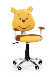 Bērnu krēsls Kubuś, dzeltens/brūns