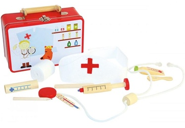 Rotaļlietu ārsta komplekts Woodyland Doctor Atributic Things 90847, 10 gab.