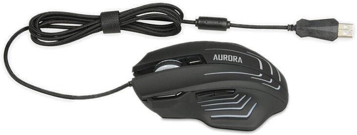 Spēļu pele iBOX AURORA A-2 Black, vadu, optiskā