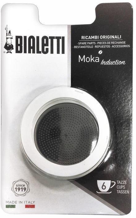 Bialetti 0800010 3 Gasket + 1 Filter Bialetti Moka Induction 6 Cups