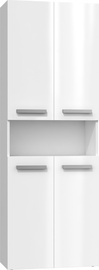 Top E Shop Bathroom Cabinet With 2 Baskets White Gloss