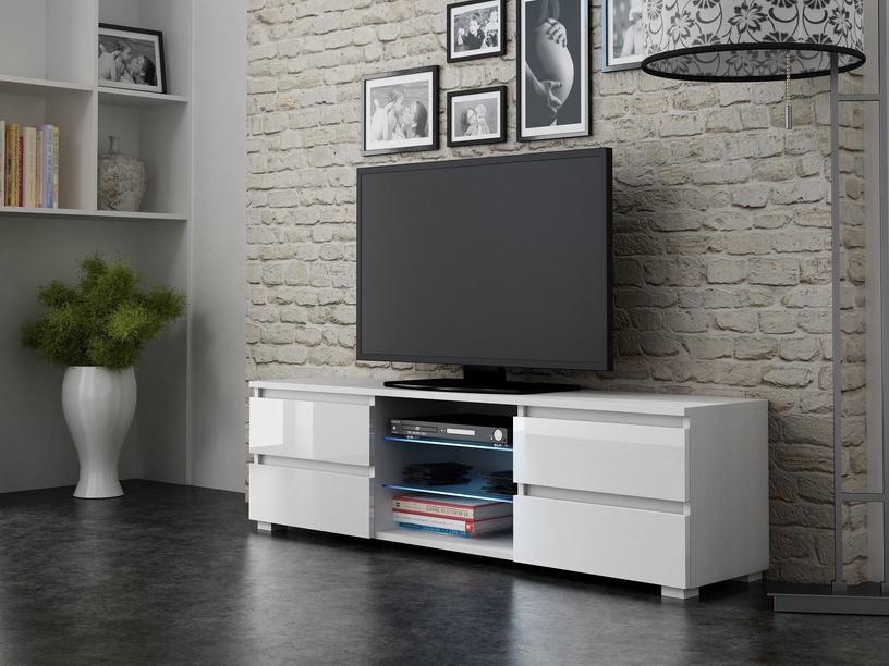 TV galds Pro Meble Milano 150 White, 1500x350x420 mm