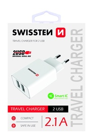 Swissten Premium Fast Charge Travel Charger 10.5W White