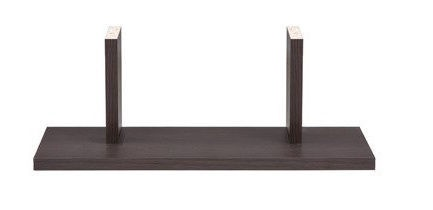 Black Red White Junona Line Wall Shelf 40cm Wenge