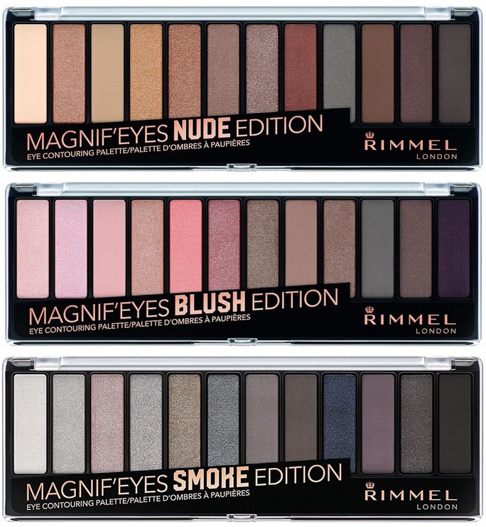 Acu ēnas Rimmel London Magnif'Eyes Eye Contouring Palette Nude Edition, 14 g