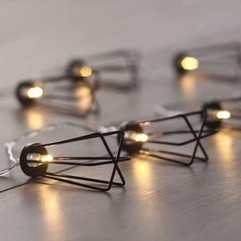 Электрическая гирлянда DecoKing LED Industry, теплый белый, 1.65 м