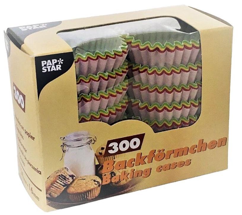 Papīra formas Pap Star Colored Baking Cups 2.4cm 300pcs