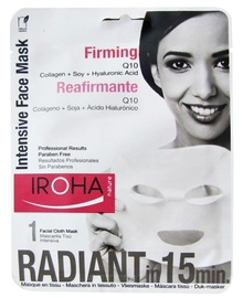 Sejas maska Iroha Nature Intensive Firming Face Tissue Mask Q10, 23 ml