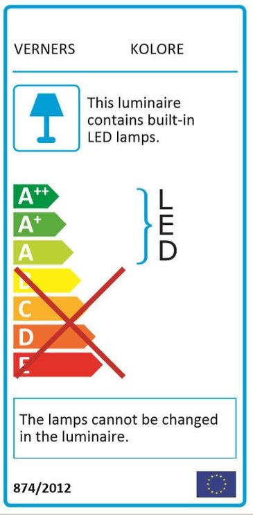 Verners Kolore Ceiling Lamp 21W LED Black