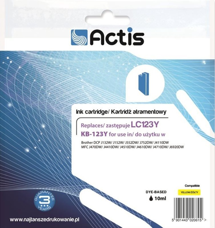 Actis Cartridge For Brother 10ml Yellow