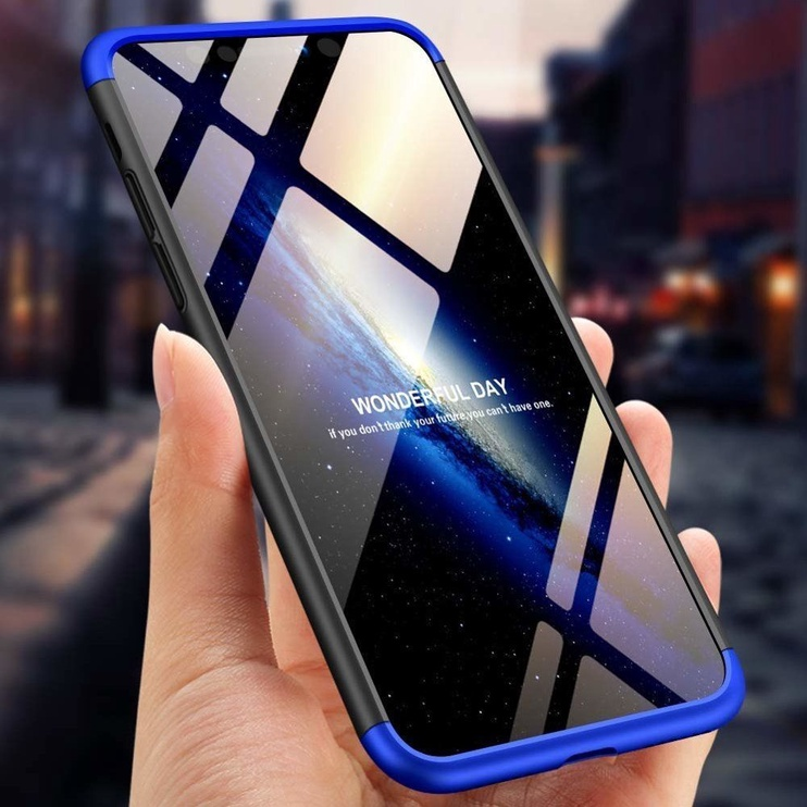 Hurtel 360 Protection Full Body Cover For Apple iPhone XS Max Black/Blue