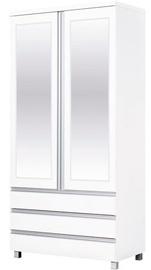 Skapis Bodzio AG40 White, 90x52x190 cm