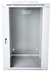 """Digitus Double Section Wallmount Cabinet 19"""" 18U/600 mm Gray"""
