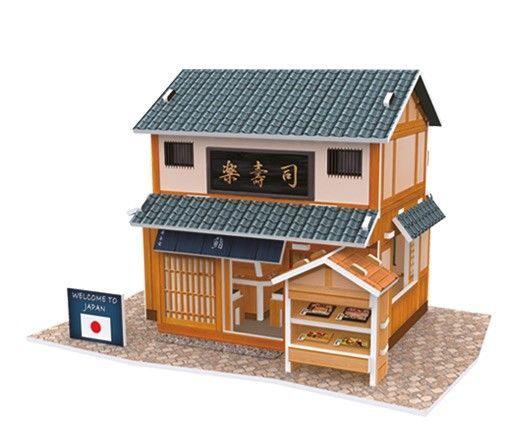 3D mīkla Cubicfun World Style Japanese Flavor Sushi Restaurant 3D, 32 gab.