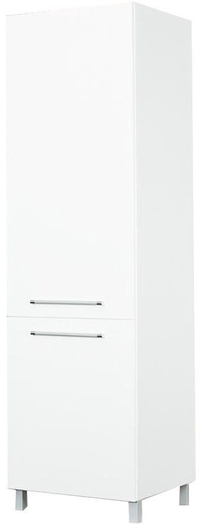 Virtuves skapītis Bodzio Loara Left GL White, 600x590x2070 mm