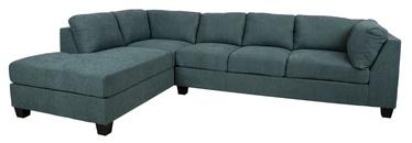 Угловой диван Home4you Helmy, зеленый, левый, 210 x 309 x 82 см