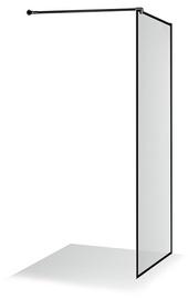 Стенка для душа Brasta Glass Ema Nero Frame, 1000 мм x 2000 мм