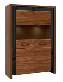 Шкаф-витрина Black Red White Arosa, коричневый/дубовый, 105x40x149.5 см