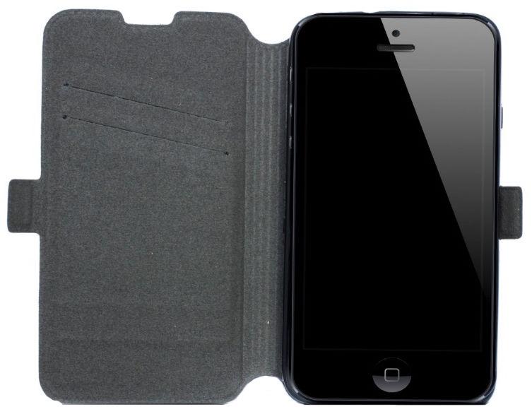 Telone Super Slim Shine Book Case LG L Fino Black