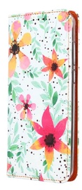Mocco Smart Trendy Book Case For Huawei P20 Lite Flowers