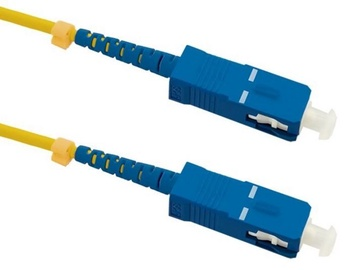 Qoltec SC/UPC to SC/UPC Optic Singlemode Cable Yellow 10m