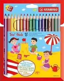 Stabilo Trio Thick Pencils With Sharpener 18pcs