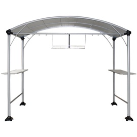 Home4you Grill Garden Gazebo 270x150cm Grey