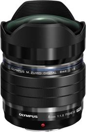 Объектив Olympus 8mm f/1.8 Pro M.Zuiko Digital ED Black, 315 г