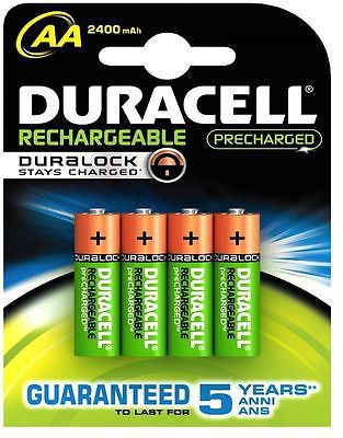 Duracell Stay Charged Rechargeable 4 x AA 2400mAh