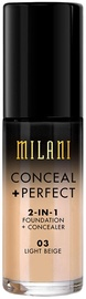 Milani Conceal + Perfect 2in1 Foundation + Concealer 30ml 03