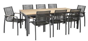 Комплект уличной мебели Home4you Montana 13269, серый, 8 места