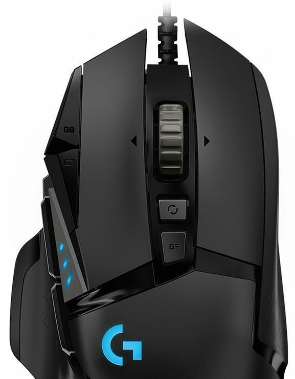 Spēļu pele Logitech G502 Hero, melna