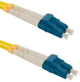 Qoltec LC-LC Optic Patch Cable Yellow 1m