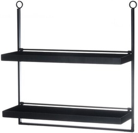 4Living Loft Wall Shelve 58x59x19cm Black