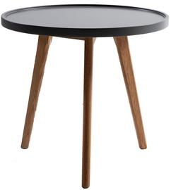 Kafijas galdiņš Home4you Helena Grey/Brown, 450x450x500 mm