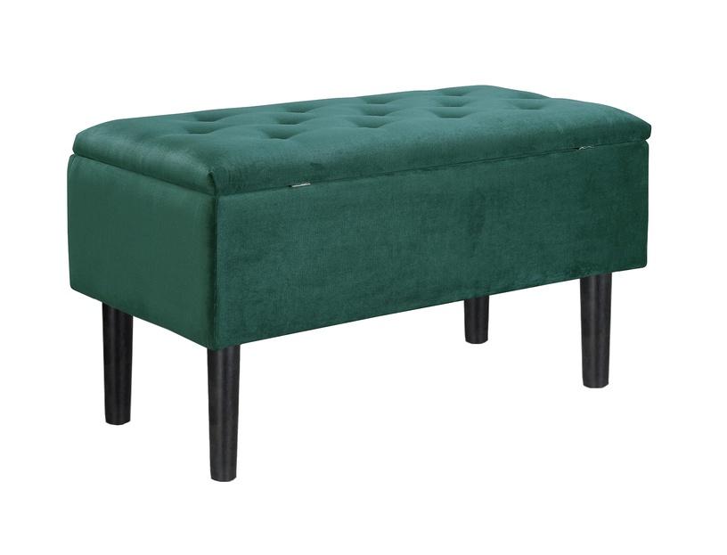 Pufs Halmar Cleo Dark Green/Black, 80x40x44 cm
