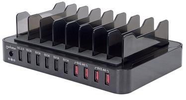 Manhattan 10x USB Charger Black