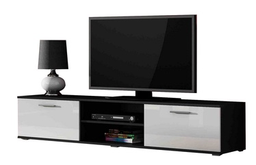 ТВ стол Cama Meble Soho 180, белый/черный, 1800x430x370 мм