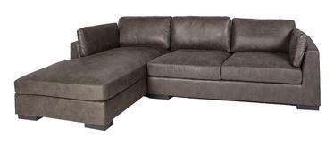 Stūra dīvāns Home4you Malena Brown, kreisais, 310 x 175 x 81 cm