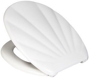 Verners Shell Soft Close Toilet Lid White