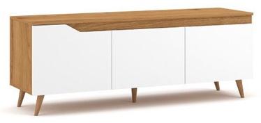 Vivaldi Meble Tue TV Stand Gold Craft Oak/White Mat