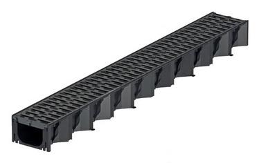 Kanāls ar plast režģi Aco HexaLine, 1 m
