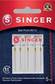 Singer Ball Point Needle 80/12 For Knit Fabrics 5pcs